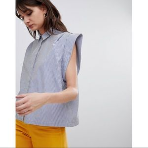 Boxy Shirt with Pleat Detail
